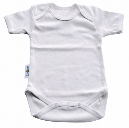 Baby Plus Schröders bodysuit 1/4 arms white