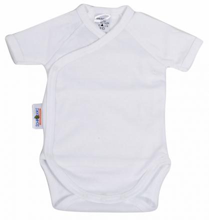 Baby Plus Schröders wrap-bodysuit 1/4 arms white