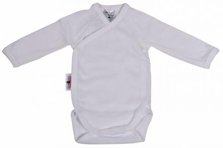 Baby Plus Schröders wrap-bodysuit 1/1 arms white