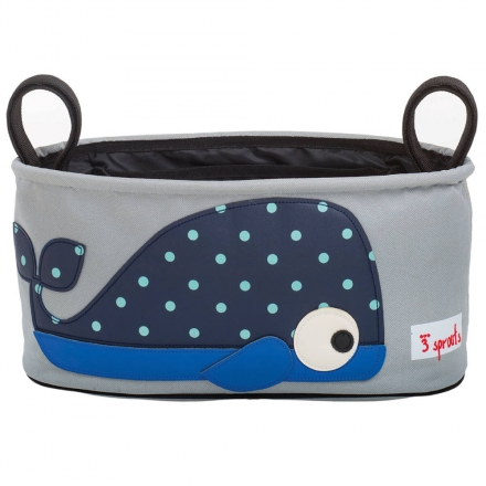 3sprouts bag for prams and strollers whale