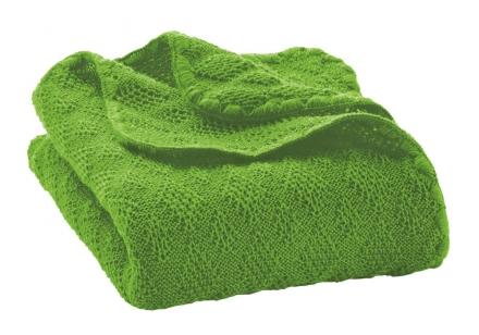 Disana wool plaid green 100x80cm