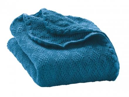 Disana wool plaid blue 100x80cm