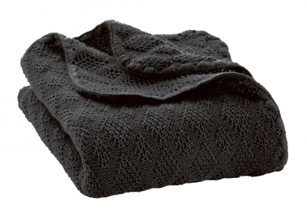 Disana wool plaid anthrazit 100x80cm