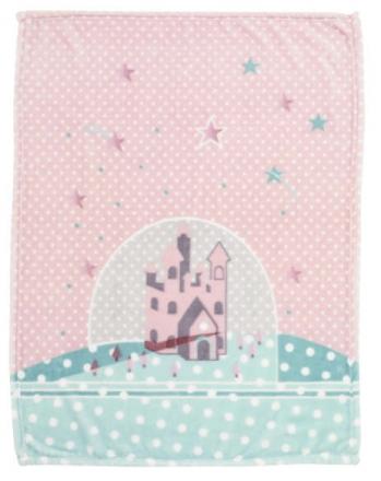 Alvi microfiber baby blanket star-castle 75x100