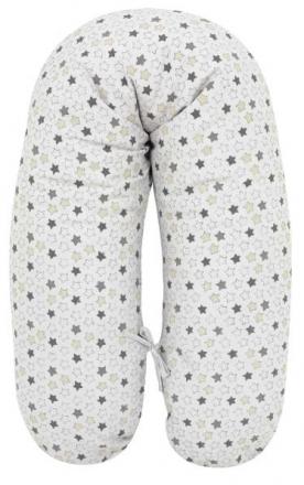 Alvi nursing pillow with cover stars+little stars grey-beige 190cm