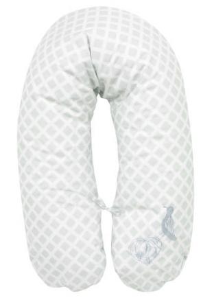 Alvi nursing pillow with cover application Meerlust blue 190cm