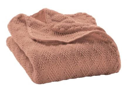 Disana wool plaid rose 100x80cm