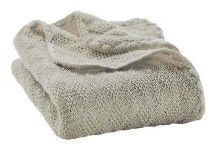 Disana wool plaid grey 100x80cm
