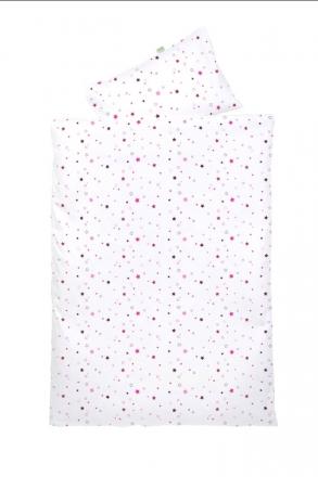 Odenwälder Jersey turning bedding 100x135cm stars pink & black berry