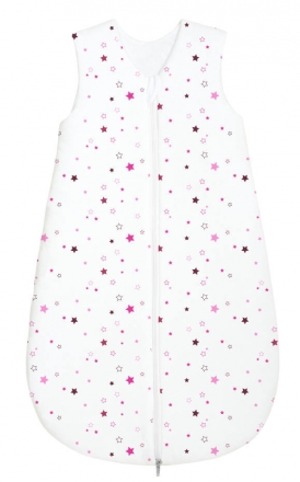 Odenwälder Jersey Schlafsack 70 cm Allrounder Sterne pink & black berry