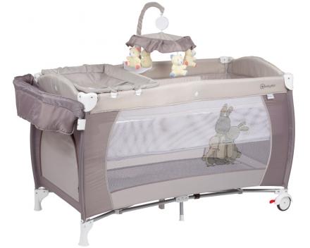BabyGo travel cot Sleeper deluxe beige