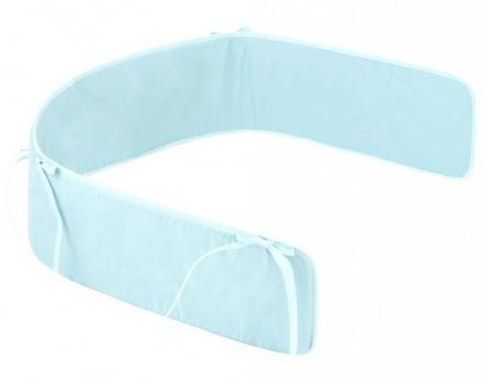 Zöllner cot bumper basic for childrens bed 180cm plain mint