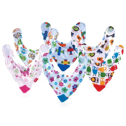 NÜBY dribble bib with teether corner
