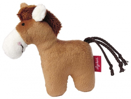 Sigikid 41170 rattle horse brown Red Stars