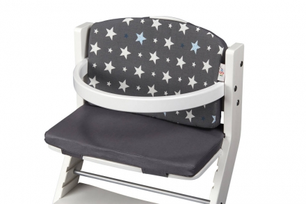 DawOst tiSsi® cushion for high chair grey stars