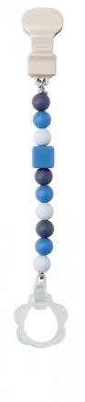Nattou 879286 Lapidou pacifier chain blue