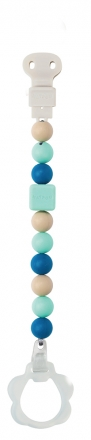 Nattou 879293 Lapidou pacifier chain mint green