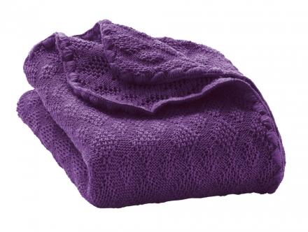 Disana wool plaid violett 100x80cm