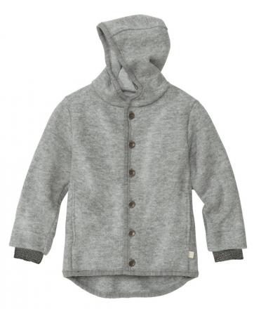 Disana boiled wool jacket 62/68 grey