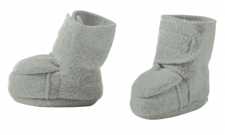 Disana boiled wool booties size 2 grey