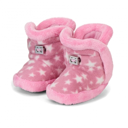 Sterntaler 5101825 baby-bootees stars with cord-stopper 17/18 perlrosa
