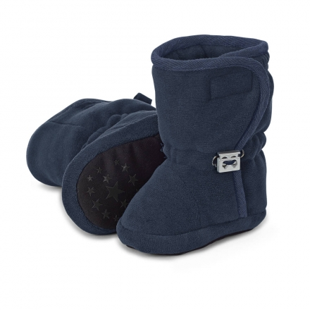 Sterntaler 5101831 baby-bootees with cord-stopper 21/22 navy