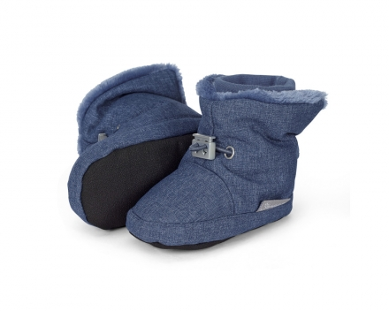 Sterntaler 5101831 baby-bootees with cord-stopper 17/18 blue melange
