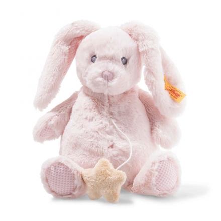Steiff 241772 Belly Hase Spieluhr 26cm rosa