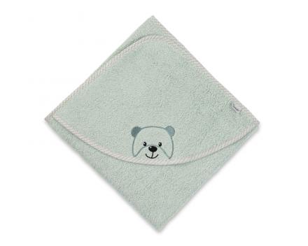 Sterntaler hooded bath towel Baylee green 100x100