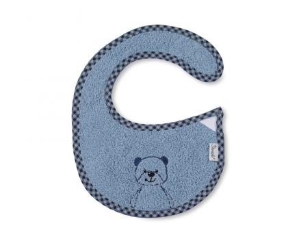 Sterntaler Plastic Bib with Velcro Baylee blue