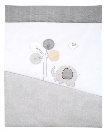 Alvi Play Mat with Application Jumbo grey 100x135
