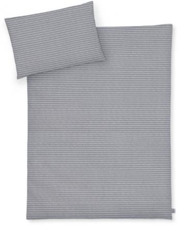 Zöllner Jersey Bedding Grey Stripes 100x135 cm