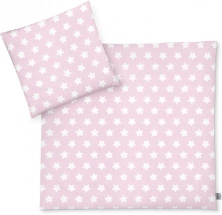 Zöllner Bettwäsche Sterne rosa 80x80