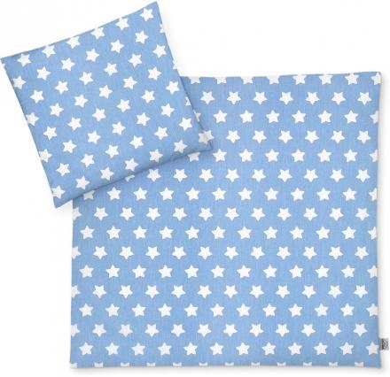 Zöllner Bettwäsche Sterne blau 80x80