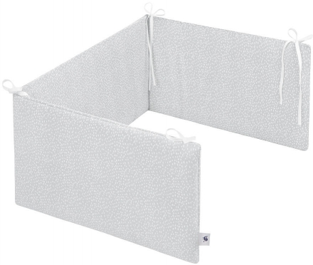 Zöllner Cot Bumper Comfort Soft 180cm Tiny Squares Grey