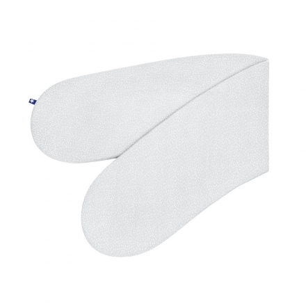 Zöllner Nursing Pillow Jersey Tiny Squares Grey 190cm