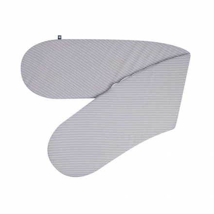 Zöllner Stillkissen Jersey Grey Stripes 190cm