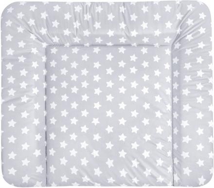 Zöllner Wickelauflage Softy Folie Sterne grau 75x85
