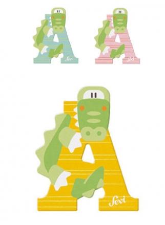 Sevi wooden letter A alligator
