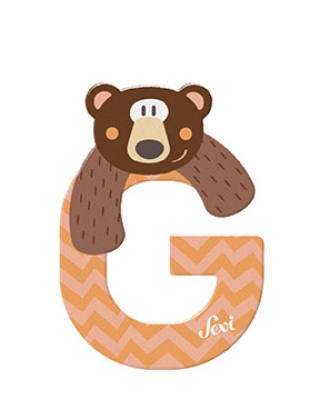 Sevi wooden letter G grizzly