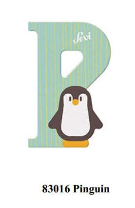 Sevi Holzbuchstabe Buchstabe P Pinguin