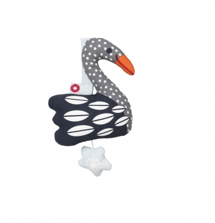 FRANCK & FISCHER Musical toy swan Else dark