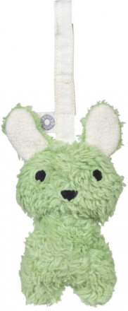 FRANCK & FISCHER Rattle bunny Louise green