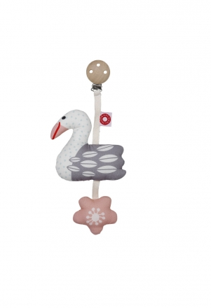 FRANCK & FISCHER Tinka rattle swan with clip