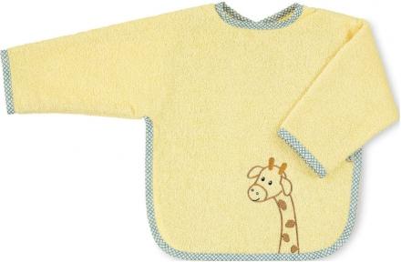 Sterntaler Sleeved bib giraffe Greta