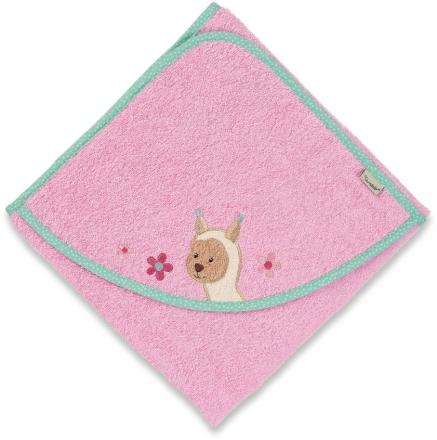 Sterntaler hooded bath towel Zoo lama Lotte 100x100