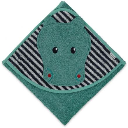 Sterntaler hooded bath towel with all-over motif Zoo Konrad 80x80
