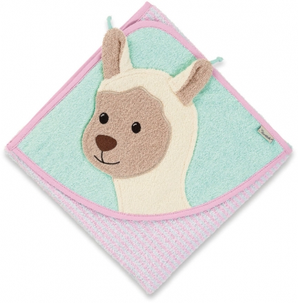 Sterntaler hooded bath towel with all-over motif Zoo Lotte 100x100