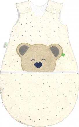 Odenwälder BabyNest® Mucki Air Jersey sleeping bag hearts blue