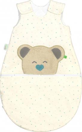 Odenwälder BabyNest® Mucki Air Jersey sleeping bag hearts mint